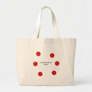 Latin Language Design (Lingua Latina) Large Tote Bag