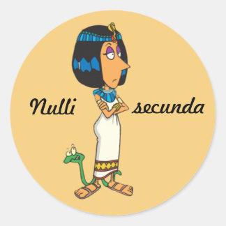 Latin: Nulli secunda Classic Round Sticker