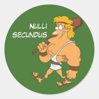Latin: Nulli secundus Classic Round Sticker