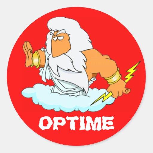 Latin: Optime! Round Sticker