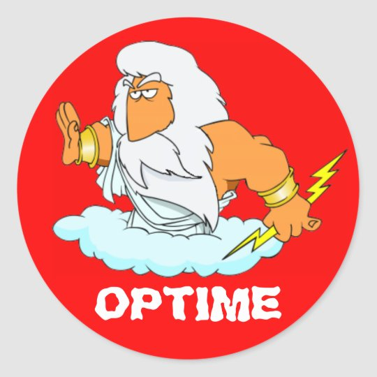 Latin: Optime! Round Sticker