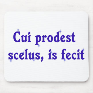 Latin Phrase on Lawyer Mousepad