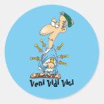 Latin: Veni vidi vici Classic Round Sticker