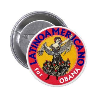 Latino Americano for Obama 2012 6 Cm Round Badge
