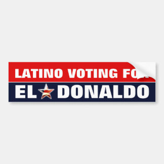 Latino Voting For Donald Trump Bumper Sticker
