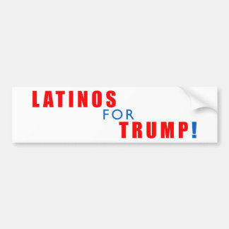 Latinos for Donald Trump Bumper Sticker