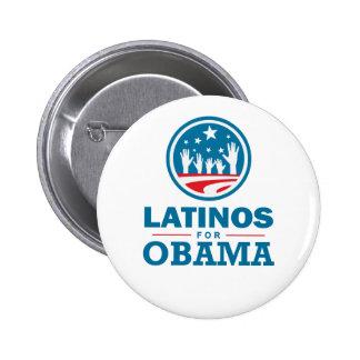 Latinos for Obama 6 Cm Round Badge