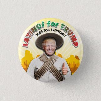 LATINOS FOR TRUMP Hispanic Pancho Villa Bandito 3 Cm Round Badge