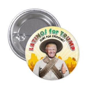 LATINOS FOR TRUMP Hispanic Pancho Villa Mexico Man 3 Cm Round Badge