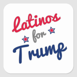 Latinos for Trump Square Sticker