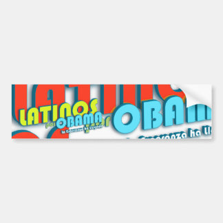Latinos Por Obama Bumper Sticker