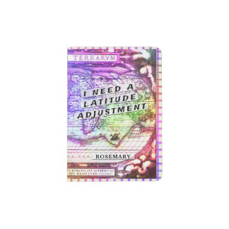 Latitude Adjustment Colourful Ancient Map Summer Passport Holder
