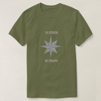 Latitude and Longitude with Nautical Wheel T-Shirt