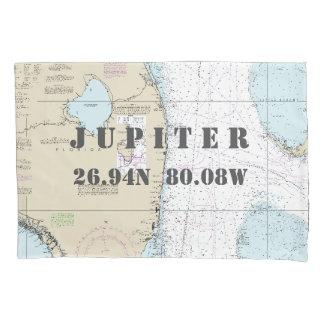 Latitude Longitude South Forida Nautical Chart Pillowcase
