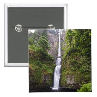 Latourell Falls & Bridge Columbia River Gorge 15 Cm Square Badge