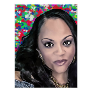 Latoya in color selfie poster