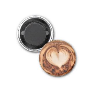 Latte Art #3 3 Cm Round Magnet