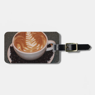 Latte Art Luggage Tag