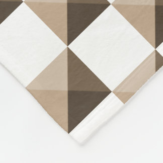 Latte Coffee Brown Colors Fleece Blanket
