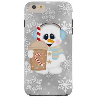 Latte Snowman iPhone 6 plus tough case