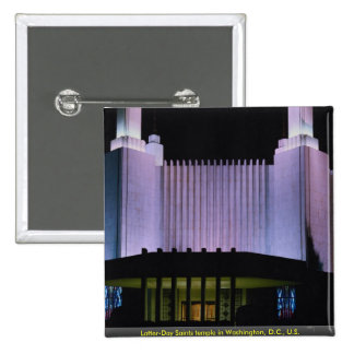 Latter-Day Saints temple in Washington D C U S Pinback Buttons