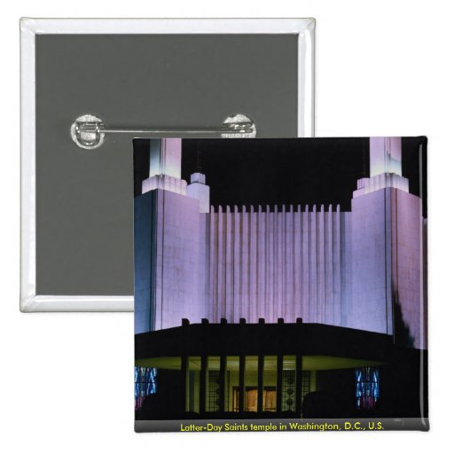 Latter-Day Saints temple in Washington, D.C., U.S. Pinback Buttons