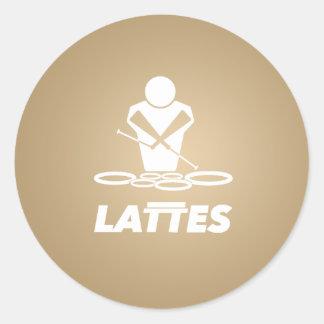 LATTES - QUADS - TENORS - DRUMLINE - QUINTS CLASSIC ROUND STICKER