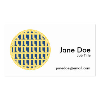 Lattice Blueberry Pie - Pi Day Pack Of Standard Business Cards
