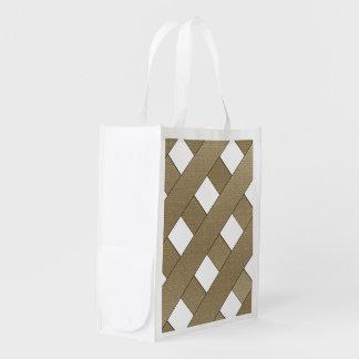 Lattice Fence Grocery Bag