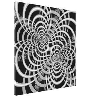 Lattice in Black and White Canvas Print
