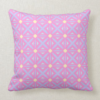 Lattice in Brights Throw Pillow