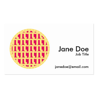 Lattice Raspberry Pie - Pi Day Pack Of Standard Business Cards