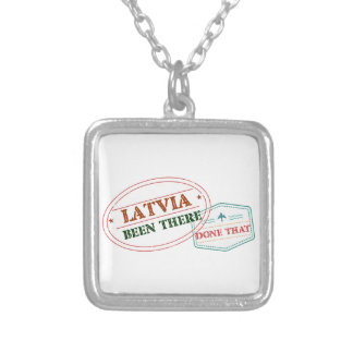 Latvia Been There Done That Silver Plated Necklace