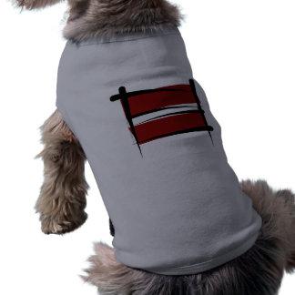 Latvia Brush Flag Dog Clothing