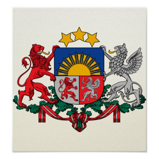 Latvia Coat of Arms detail Poster