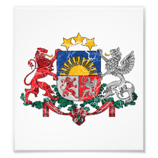 Latvia Coat Of Arms Art Photo