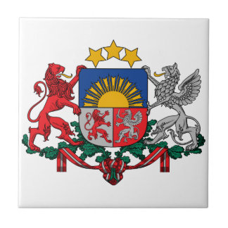Latvia Coat Of Arms Small Square Tile