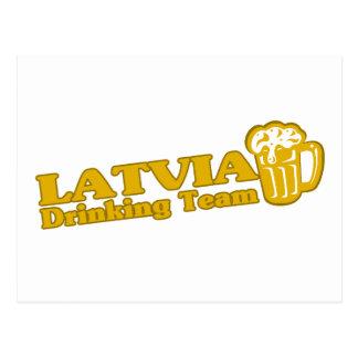 Latvia Drinking Team Postcard