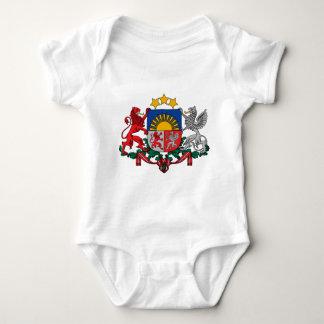 latvia emblem baby bodysuit