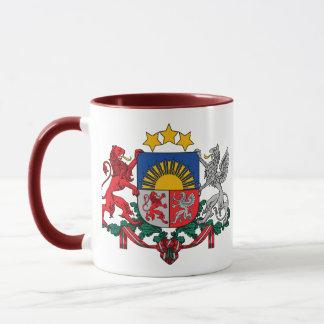 latvia emblem mug