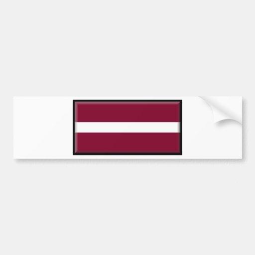 Latvia Flag Bumper Stickers