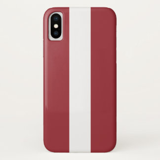 Latvia Flag iPhone X Case