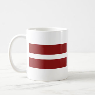 Latvia Flag ~ Map Mug