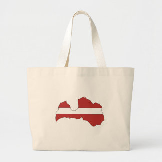 Latvia flag map bag