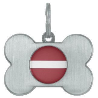 Latvia Flag Pet Name Tag