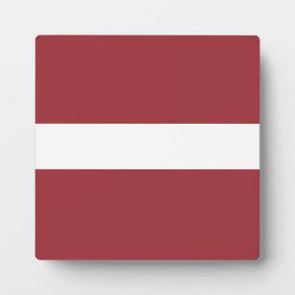 Latvia Flag Plaque