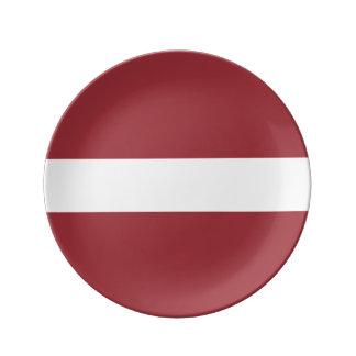 Latvia Flag Porcelain Plates
