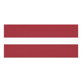 Latvia Flag Rack Card