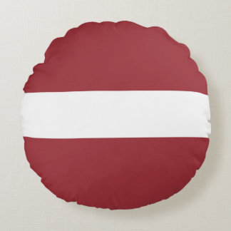 Latvia Flag Round Cushion
