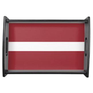 Latvia Flag Service Tray
